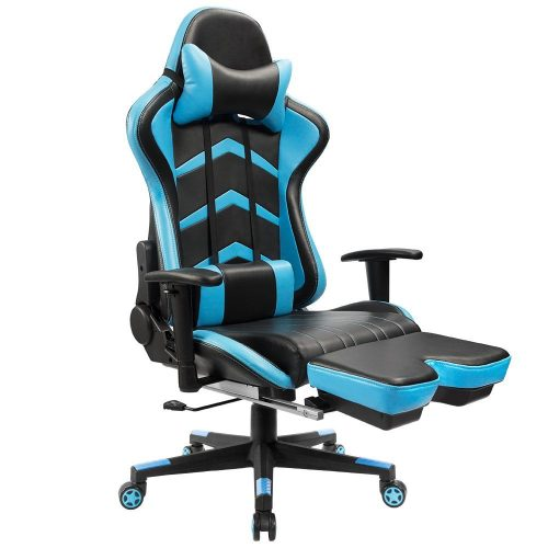 Furmax Gaming Chair High Back Racing Chair, Ergonomic Swivel Computer Chair Executive PU Leather Desk Chair With Footrest, - reclining office chair