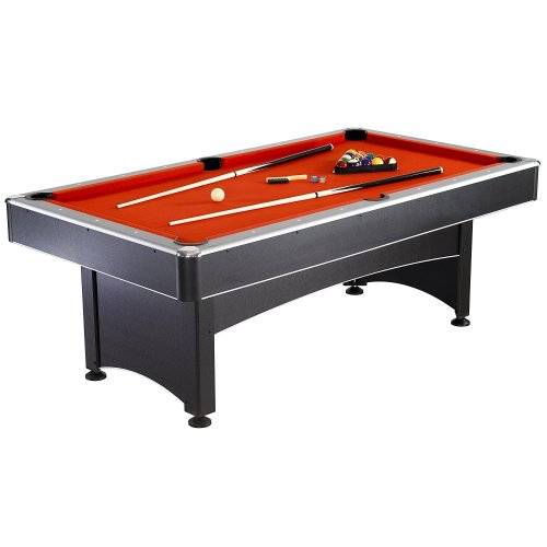 Hathaway Maverick Table Tennis and Pool Table, Black/Red/Blue, 7-Feet - Outdoor Pool Table