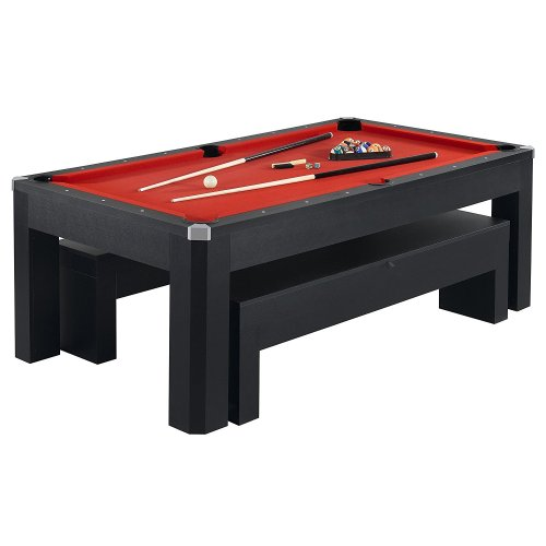 Hathaway Park Avenue Billiard Pool Table Combo Set, 7-Feet - Outdoor Pool Table