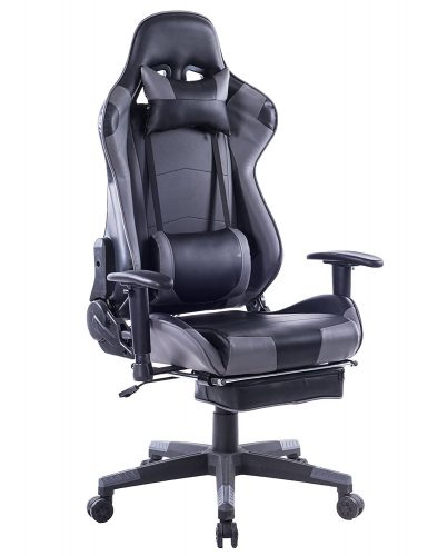 Killbee Ergonomic Gaming Chair, Reclining Computer Chair Swivel Leather Executive Office Chair