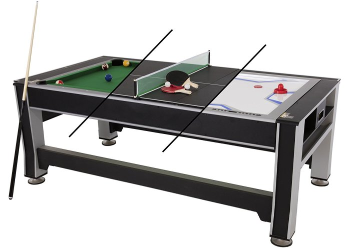 Triumph 3-in-1 Swivel Multigame Table - Outdoor Pool Table