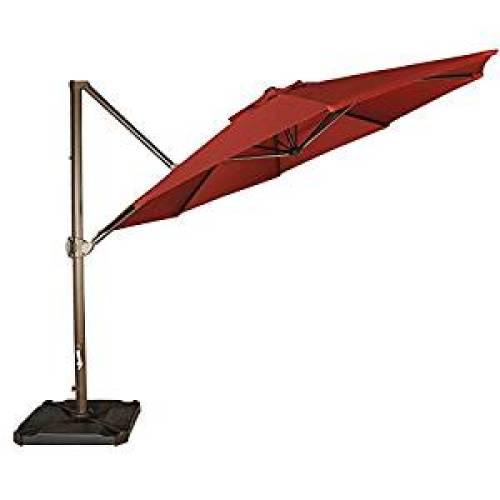 Abba Patio 11-Feet Offset Cantilever Umbrella Outdoor Patio Hanging Umbrella - Offset Patio Umbrellas