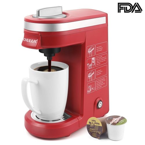 CHULUX Single Serve Coffee Maker Brewer for K Cups with 12 OZ Water Tank - Single Cup Maker