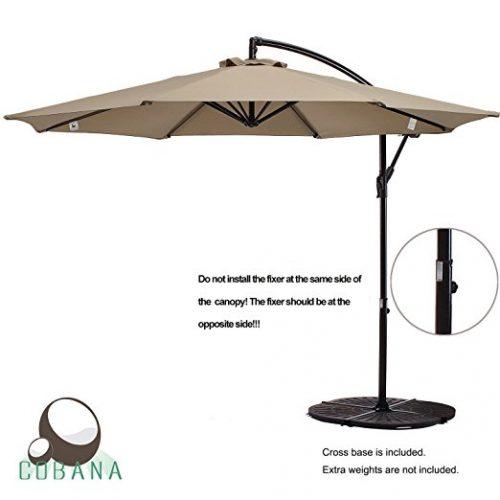 COBANA 10 Ft Patio Umbrella Offset Hanging Umbrella - Offset Patio Umbrellas