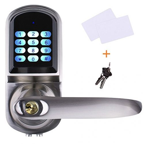 EZlock ELC01 4-in-1 Electronic Keyless Backlit Keypad Door Lock - Keypad Door Locks