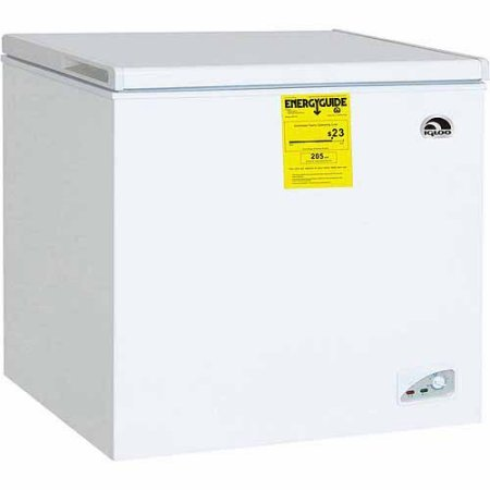 Igloo FRF470 7.1 cu ft Adjustable Thermostat Chest Freezer, White - Deep Freezers