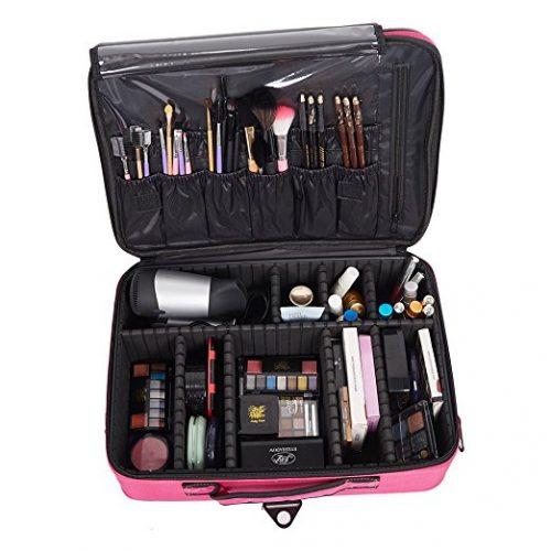 KARMAS PRODUCT Backpack Portable Travel Makeup Case Cosmetic Organizer Bag - Makeup Train Cases