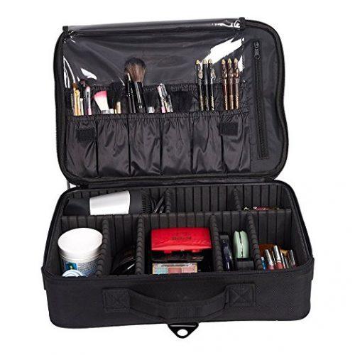 Livebest Large Portable Double Shoulder & Single Shoulder Travel Makeup Bag / Makeup Case /Cosmetic Train Bags - Makeup Train Cases