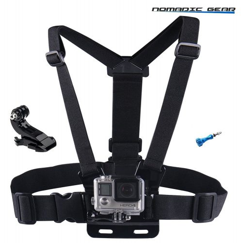 Nomadic Gear Adjustable Chest Mount Harness for Gopro Hero5 Hero4 Hero3+ Hero3 Hero2 Hero Camera - GoPro Chest Mounts