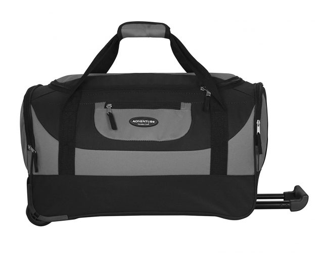 cf3fc044616e Travelers Club Luggage Adventure 20 Inch Multi-Pocket Sports Rolling Duffel  - Rolling Duffel Bags