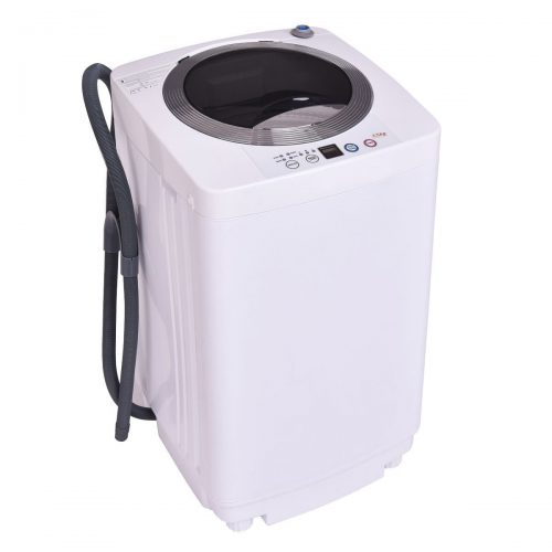 Giantex Portable Compact Full-Automatic Laundry 1.6 Cu. ft. Washing Machine 8 Lbs Washer/Spinner W/Drain Pump - Portable Washing Machine