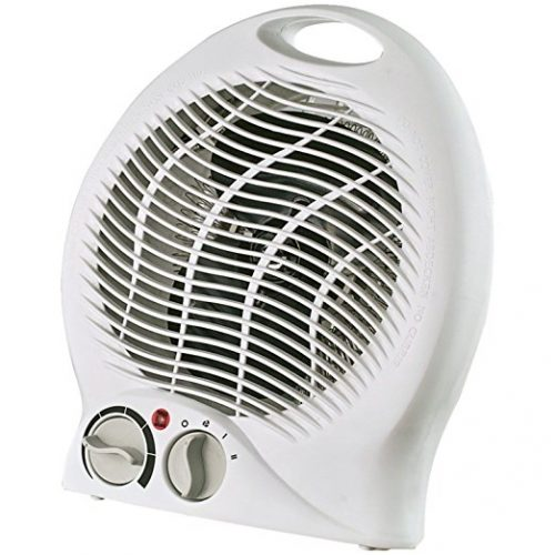 Optimus H-1322 Portable 2-Speed Fan Heater Thermostat - Battery Operated Heaters