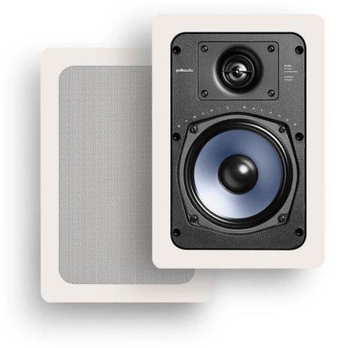Polk Audio RC55i 2-Way In-Wall Speakers (Pair, White) - In-wall Speakers