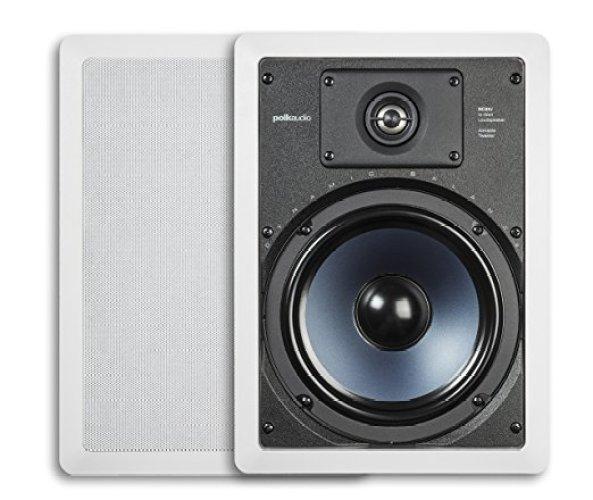 Polk Audio RC85i 2-Way In-Wall Speakers (Pair, White) - In-wall Speakers