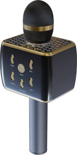 RockDaMic Karaoke Wireless Bluetooth Microphone [NO KARAOKE MACHINE NEEDED] Mic for Kids - Voice Echo & Works as Speaker - Aluminum Alloy - Works for Android and iPhone - Bluetooth Microphone