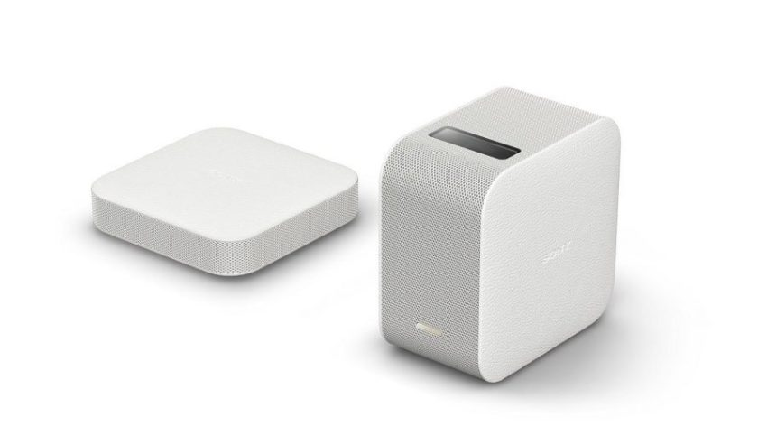 Sony LSPX-P1 Portable Ultra Short Throw Projector with Wi-Fi/Bluetooth, wireless HDMI unit, compatible with Android & iOS - Short Throw Projectors