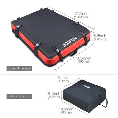 Aoafun Car Roof Bag Cargo Bag Storage Box Roof Top Bag For Travel - Best Waterproof Roof Top Cargo Bags