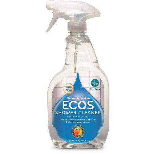 Earth Friendly Products Shower Cleaner with Tea Tree Oil, 22-Ounce (Pack of 2) - Automatic Shower Cleaners