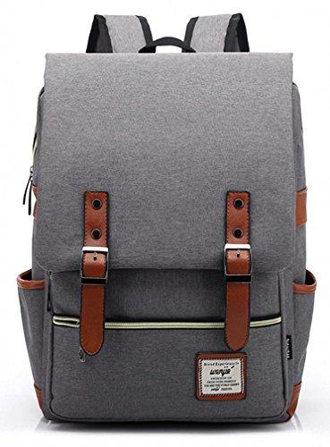 Kenox Vintage Laptop Backpack College Backpack School Bag Fits 15-inch Laptop - 15 inch laptop backpack