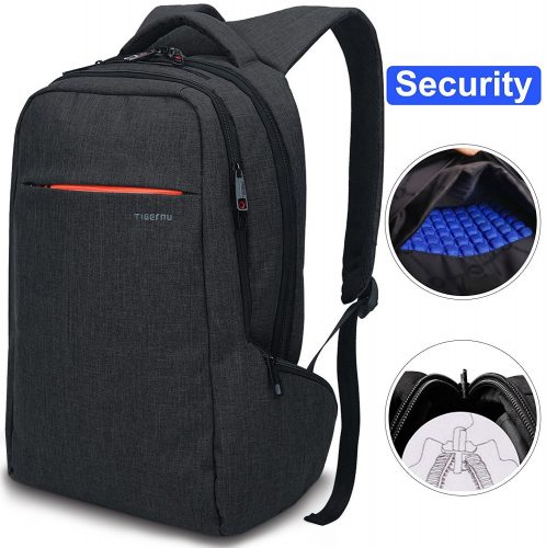 LAPACKER 15.6 Anti-Theft Slim Water Resistant Laptop Backpack Bag for Men&Women, Lightweight Business Travel College Computer Backpacks for Laptop in Black - 15 inch laptop backpack