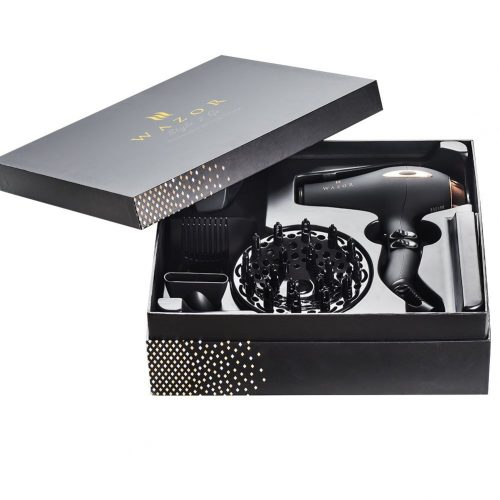 Wazor Hair Dryer Pro AC motor Ceramic Negative Ionic Blow Dryer with four attachments - Hair Dryer for Curly