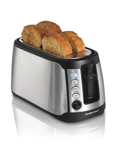 Hamilton Beach 4-Slice Long Slot Keep Warm Toaster (24810) - 4 Slice Toaster