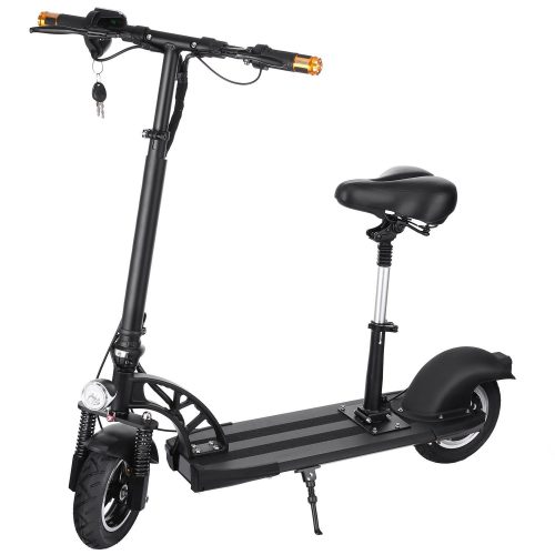 Anfan Electric Scooter Adult with Retractable Seat, Foldable City E-Scooter E-bike for Boys/Girls - Electric Scooters with Seat