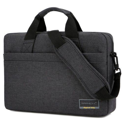 BRINCH 15.6 Inch Stylish Lightweight Business Laptop Shoulder Messenger Bag Briefcase Sleeve Case for 15 - 15.6 Inches Laptop / Notebook / MacBook / Ultrabook / Chromebook Computers, Black - laptop messenger bag