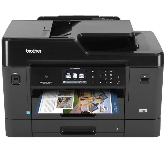 Brother Printer MFCJ6930DW Wireless Color Printer with Scanner, Copier & Fax, Amazon Dash Replenishment Enabled - fax machine