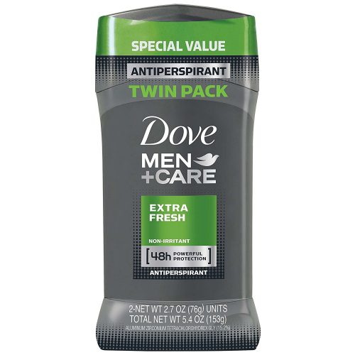 Dove Men + Care Antiperspirant Deodorant Stick, Extra Fresh, 2.7 oz. (Pack of 2). - deodorants for men