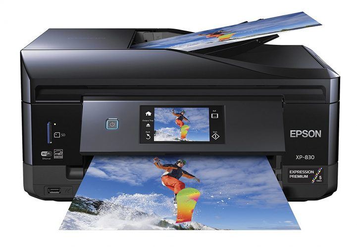 Epson XP-830 Wireless Color Photo Printer with Scanner, Copier & Fax (C11CE78201) - fax machine