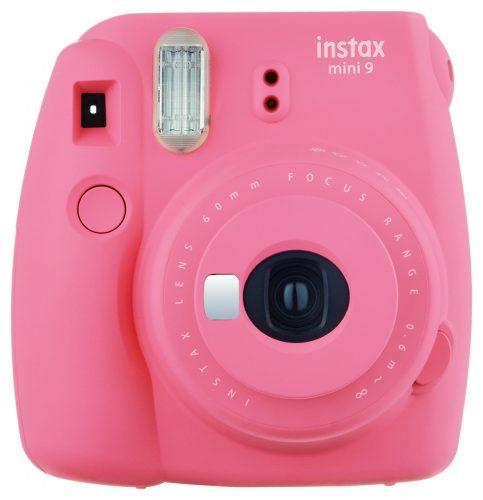 FujiFilm Instax Mini 9 Instant Camera + Fuji Instax Film + Accessories Bundle - Carrying Case, Color Filters, Photo Album, Stickers, Selfie Lens - instant film cameras