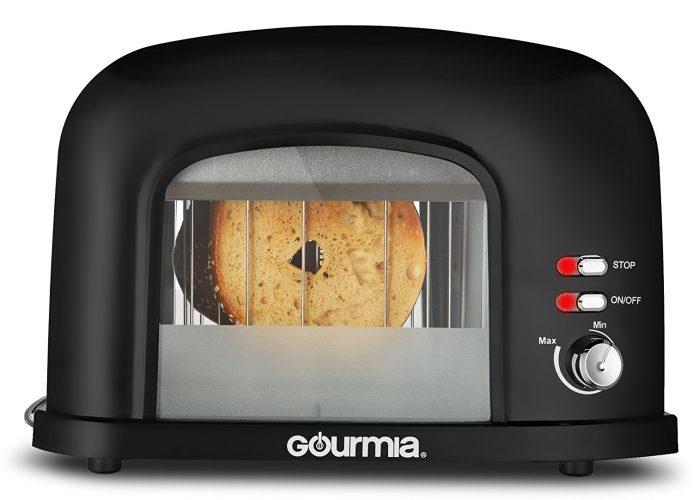 New & Improved Gourmia GWT230 - 2 Slice Motorized Toaster - See-through Toasters