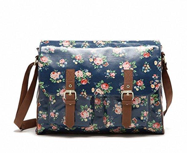 Kenox Vintage Women Laminated Canvas Messenger Bag - Messenger Bags for Women