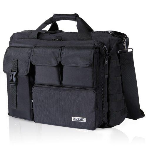 "Lifewit 17.3"" Men's Military Laptop Messenger Bag Multifunction Tactical Briefcase Computer Shoulder Handbags, Black - laptop messenger bag"