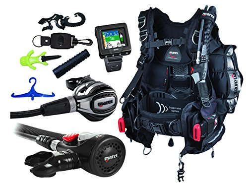 Mares Scuba Diving Computer, Regulator Set, Octo Complete Premium Package w/ BCD - Scuba Gear Packages