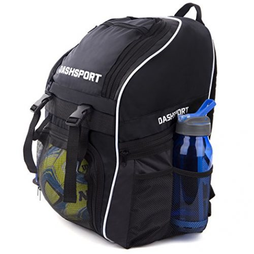 Soccer Backpack / Basketball Backpack - Youth Kids Ages 6 and Up - by Dash Sport - All Sports Bag Gym Tote Soccer Futbol Basketball Football Volleyball - Soccer Backpacks