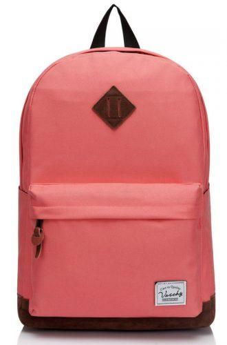 Vaschy Unisex Classic Water Resistant School Rucksack Travel Backpack 14Inch Laptop - 14-inch laptop backpacks