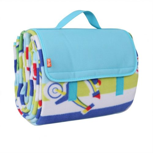 "Yodo Extra Large Outdoor Waterproof Picnic Blanket Tote 79"" x 79"" / 79"" x 59"" Light Weight with Soft Fleece and Padding, Fall-Winter Stripe - Picnic Blankets"