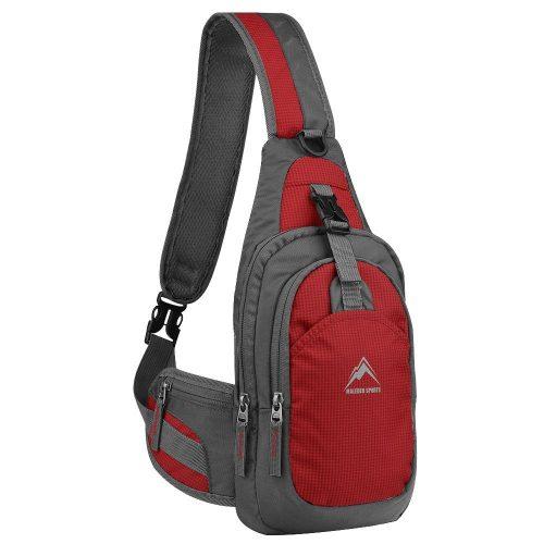 Sling Backpack, MALEDEN Water-Resistant Outdoor Shoulder Chest Pack Unbalance Crossbody Bag for Women Men Girls Boys Travel Daypack.