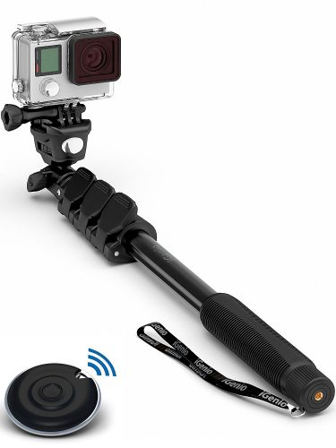 Professional 10-In-1 Monopod / Selfie Stick For GoPro Hero, iPhone, Samsung Galaxy, Digital Cameras With Bluetooth Remote Shutter (Cellphones Only)