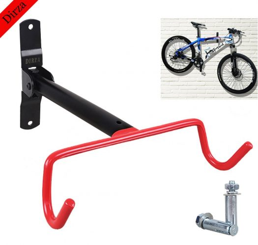 Wall Mount Bike Hanger Dirza Foldable Garage Bicycle Bike Rack Storage System for Garage Shed with Screws