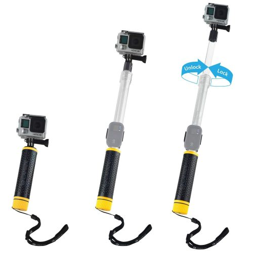 Waterproof Telescopic Pole and Floating Hand Grip