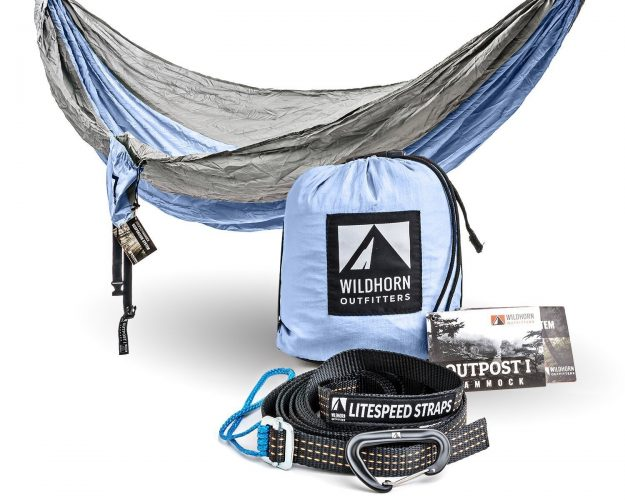 Outpost Double/Single Camping Hammock With 11' Tree Straps - 100% Parachute Nylon - Cinch Buckle Design, No Knots Required - Easiest Hammock to Hang
