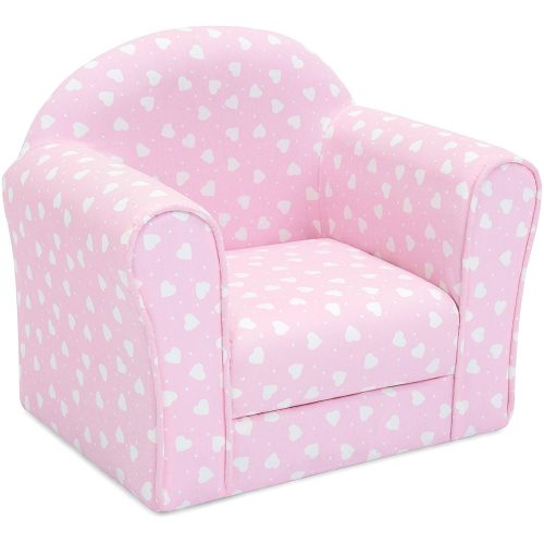 Best Choice Products Kids Heart Patterned Sofa Chair Couch W/ Armrests  (Pink)