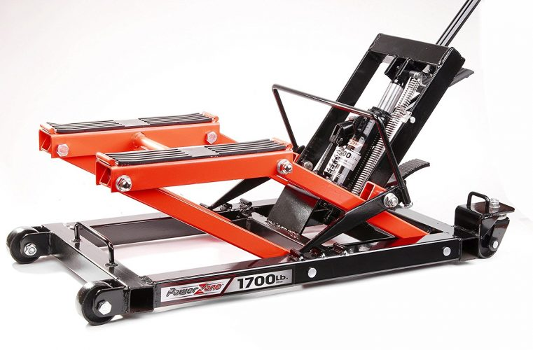 PowerZone 380047 1700 LB Hydraulic Motorcycle/ATV Jack - Motorcycle Lift Jacks