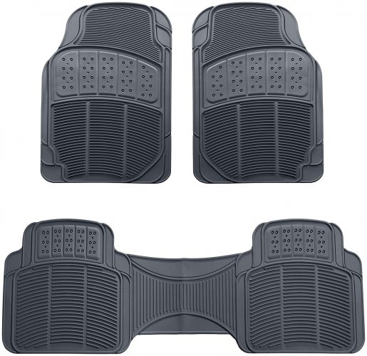 AmazonBasics 3 Piece Car Floor Mat-Gray
