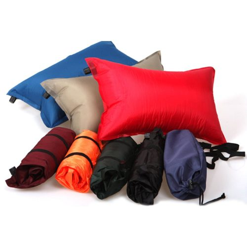 Outdoor Self Inflatable Camping Pillow, Lightweight Travel Pillow, Airplane Sleep Air Pillow Cushion, Color At Random, 1 Piece