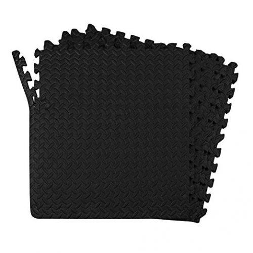 24-SQFT Dark Multi-purpose Floor Mat Anti-fatigue EVA Foam 6-tile Interlocking Tile with 10-boarder by Poco Divo - Anti-Fatigue Mats