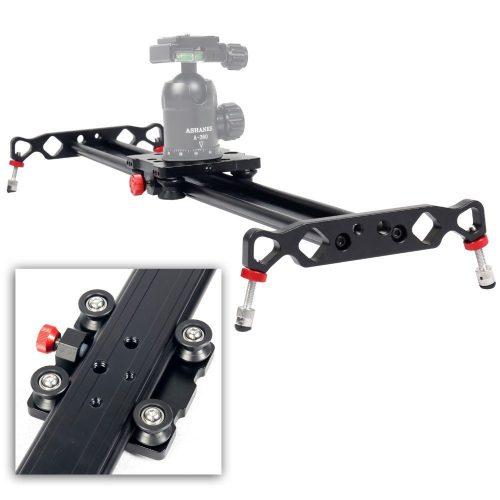 """Ashanks 31""""/80cm 4 Bearings Aluminum alloy Camera Track an slider For Dolly Sliders Track Rail Stabilizer Video DSLR DV Camera System - Camera slider"""
